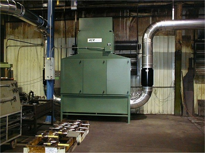 Patent-pending ELIMINATØR pre-filter in-line in ductwork to reduce maintenance requirements for an existing mist collection